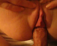 Wet powerful muff of my voluptuous amateur wife receives pushed missionary style