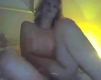 Cute golden-haired black cock sluts played with marital-device on livecam for me
