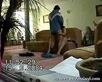 Hidden cam in the guestroom catches Arab BBC slut cheating