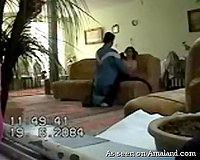 Hidden cam in the guestroom catches Arab BBC slut cheating