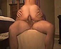Ardent large racked doxy shoved toy unfathomable in her rectal hole during the time that riding me