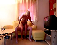 My perverted girlfriend can't live without to be manhandled during fucking
