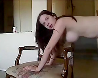 Big breasted brunette hair babe of mine merits to be pushed doggy style