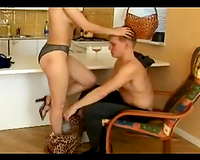 Impatient oral-job weasels with white women right in a bath
