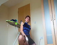 My lascivious old wifey used to fingerfuck whilst ironing