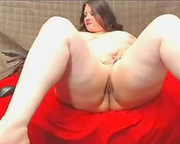 Super fat large bottomed dark head was busy with fingering her bawdy cleft