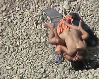 Shameless amateur wife receives drilled bad doggy style on a beach