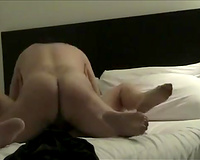 Fucking my sexy milf horny white wife after eating her vagina on web camera