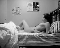 My small Bulgarian cam GF masturbates in her bedroom