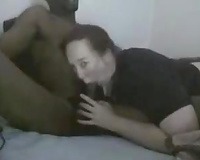 Plumpy white playgirl with huge a-hole serves her muff for my BBC