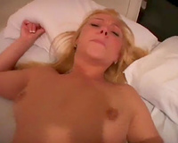Shaved soaked wet crack of blonde girlie called Mary is shoved missionary
