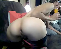 Wondrous wild short haired nerdy MILF used some toys for one as well as the other of her holes