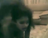 Pounding my Indian GF's taut snatch in sideways position