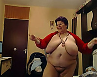 This big beautiful woman granny is a total exhibitionist and these biggest marangos are epic