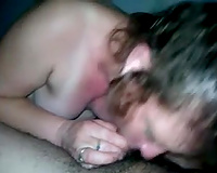 Curly and hawt amateur wife gives deepthroat oral-stimulation in advance of taking a ride in a cowgirl position