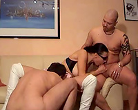 Hot slutwife of my ally acquires double teamed by me and her hubby