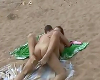 Sex on vacation! Hot blonde wife fucked at the beach