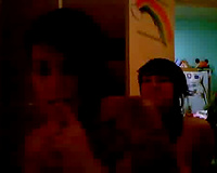 Two nasty tattooed lesbo sweethearts fondle every other on web camera