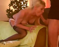 mother I'd like to fuck in high heel shoes boned unfathomable in her twat doggy position