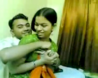 Cute and hawt Desi cheating wife is gettingseduced for groupsex