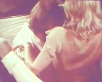 69 style oral pleasure sex of a lascivious vintage pair from the 80's