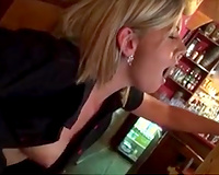 Lewd blond Czech mother I'd like to fuck was willing to be screwed in the bar