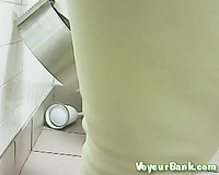 Black older big beautiful woman woman filmed in the public WC room