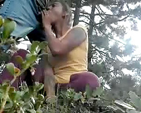 Amateur whore sucked dude and got fucked hard from behind outdoors