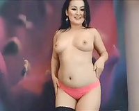 Asian bombshell stripping seductively for me on web camera