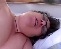 Fat brunette granny was also drunk to notice me and my hidden camera