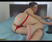 Nerdy Milf Teacher Fucks Her Pussy