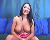 Inviting asian playgirl gives an outspoken interview