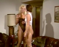 Hot blond vintage milf licks cookie of a redhead white wife on the couch