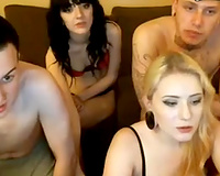 Our hawt white girlfriends blow our dicks on livecam