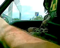 Horny dark brown street hooker from Romania receives doggyfucked in my car