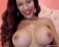 Busty consummate lalin girl bimbo is constantly slutty on cam