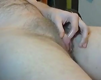 Lewd dilettante webcam slut was playing with a bit clit for my ally