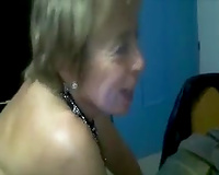 Mature used harlot with weird unsightly concupiscent makeup was drilled from behind