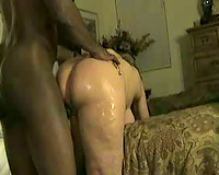 Bitch Gets Oiled Up