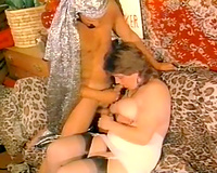 White breasty and hot hottie working her pussy hard to ride that rod