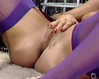 Two lascivious and perverted chick sharing one big cock of their ally