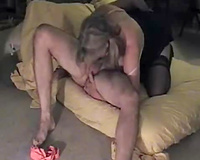 Sultry golden-haired mother I'd like to fuck Married slut sucks on my ramrod and fingers my a-hole