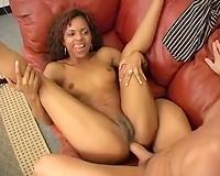 Amazing interracial anal sex with juvenile dark bimbo