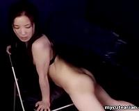 Hot Asian amateur wife out of panties masturbates on camera