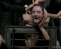Bound and restrained white slag is supsended in the air