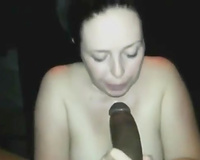 Pallid quite buxom nympho wanted to engulf rock hard large dark pecker