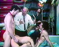 Vintage porn compilation with Male+Male+Female sex and solo female masturbation