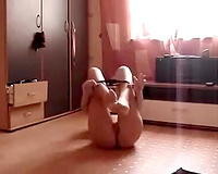 Svelte playgirl with ideal a-hole masturbates for me on web camera
