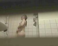 Spy camera filming my hawt flatmate in the baths