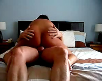 Stacked and chunky dark brown mommy takes me to her hotel room